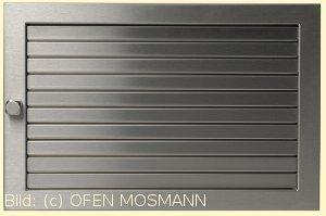 Lüftungsgitter 35 x 15 cm Edelstahl matt Warmluftgitter Lamellen verstellbar Marke CB-tec