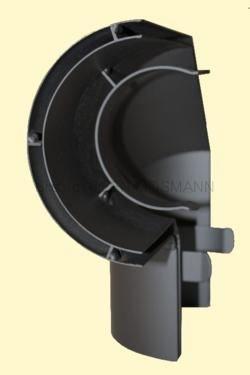 Ofenrohr Wärmeschutz Bogen 90° seitlich Senotherm DN 150 schwarz #310