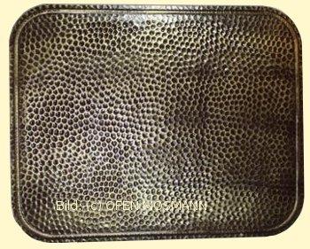 Ofenblech Unterlegblech braun-gold 700 x 900 mm Stahlblech gehämmert pulverbeschichtet
