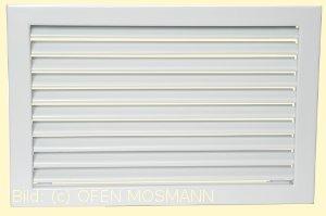 Lüftungsgitter Kaltluft 45x23 weiß Lamellen feststehend Marke CB-tec