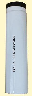 Ofenrohr DN 110 mm weiß emailliert 0,75 m Länge hq