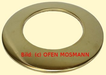 Ofenrohr DN 120 mm aus Messing Wand Rosette