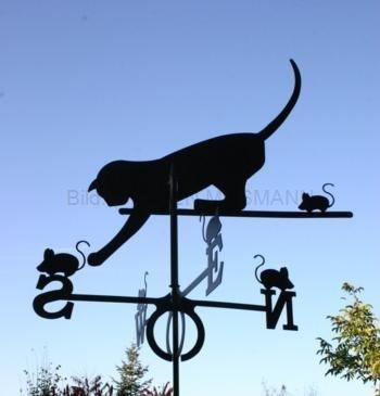 Wetterfahne Motiv Katz und Maus Format: groß