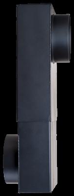 Kastenknie DN 150 mm schwarz #310
