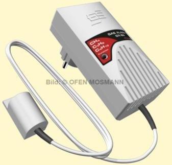 Gasmelder mit externem Sensor für Stadt-, Erd-, (Methan) u. Fl?ssiggas (Propan/Butan)