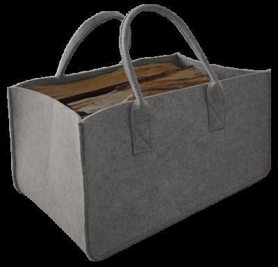 Tasche aus Filz - rechteckig - grau