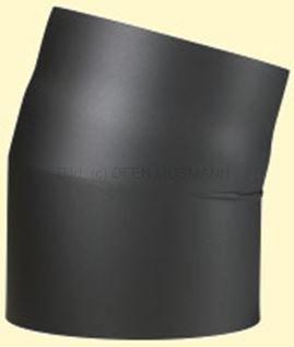 Doppelwandiges Ofenrohr Primus DN 100 mm Bogen 15° ohne Tür schwarz #310