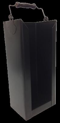 Brikett-Träger schwarz 19 x 14,5 x 41 cm glatt