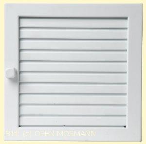 Lüftungsgitter Warmluft 55x23 weiß Lamellen verstellbar Marke CB-tec