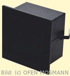 CB Putzkapsel quadratisch 140 mm x 140 mm, schwarz. Putzbündig