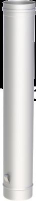 Edelstahlschornstein EW 130 mm x 0,6 mm Kaminrohr 1,00 m Länge mit Ablassschlaufe