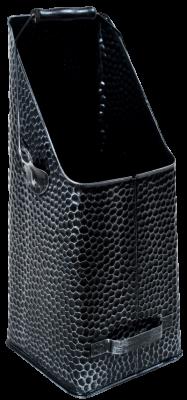 Kohleschütter schwarz-silber 20 x 14 x 41 cm gehämmert