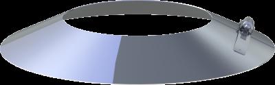 Edelstahlschornstein EW 180 mm x 0,6 mm Wandrosette-Wetterkragen