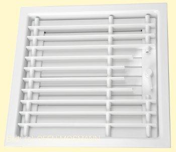 CB Deckengitter weiß 45 cm x 45 cm Lamellen verstellbar. Lüftungsgitter für Ofen Kamin. Marke CB-tec