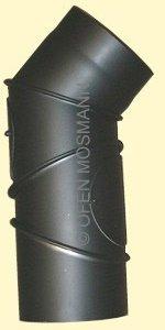 Ofenrohr DN 120 mm Bogen Knie 4-tlg. mit 2 Türen 2 mm Stahl schutzlackiert (nicht kratzerfrei)