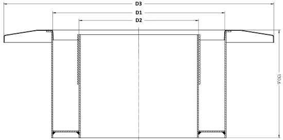 Primus Wandfutter mit Rosette
