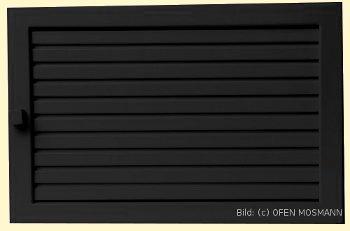 Lüftungsgitter Warmluft 45 x 15 cm schwarz Lamellen verstellbar Marke CB-tec