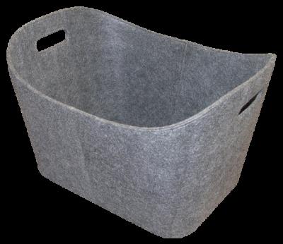 Allzweckkorb aus Filz - rechteckig - grau