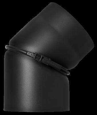 Ofenrohr Kaminofen DN 160 mm Bogen Winkel 0-45° ohne Tür schwarz #310