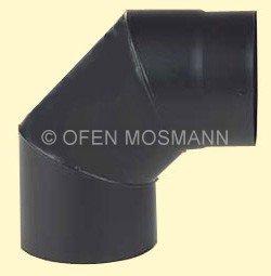 Ofenrohr DN 120 mm Bogen Knie 90° ohne Tür 2 mm Stahl schutzlackiert (nicht kratzerfrei)