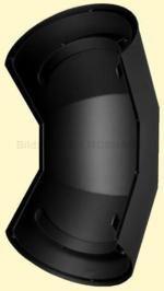 Ofenrohr Wärmeschutz Bogen 90° Senotherm DN 150 schwarz #310
