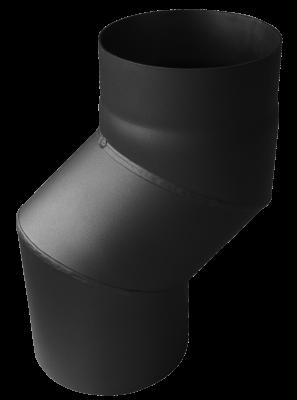 S-Versatzbogen 12 cm Senotherm DN 130 mm schwarz #310