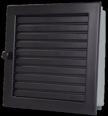 Lüftungsgitter Warmluft 23 x 23 cm schwarz Lamellen verstellbar Marke CB-tec