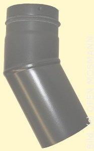 Ofenrohr für Pelletofen DN 80 mm Bogen 30 Grad ohne Tür grau emailliert