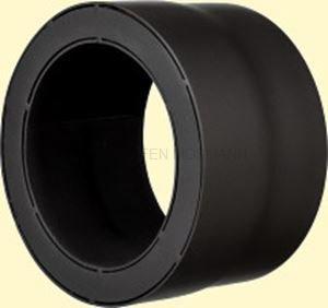 Doppelwandiges Ofenrohr Primus DN 130 mm Übergang ew-dw schwarz #310