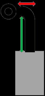 Set 3aGs Senotherm DN 150 mm schwarz Anschlusshöhe 72 - 92 cm
