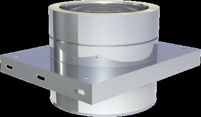 DW ECO 2.0 Edelstahlschornstein DN 200 mm Grundplatte für Zwischenstütze