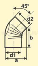 FAL 45° Bogen Maßskizze