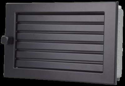 Lüftungsgitter Warmluft 35 x 15 cm schwarz Lamellen verstellbar Marke CB-tec