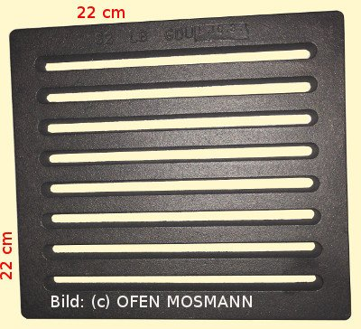 Ofenrost (Tafelrost) Breite 22 x Länge 22 cm
