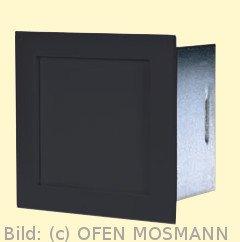 CB Putzkapsel quadratisch 140 mm x 140 mm, schwarz. Aufputz