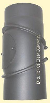Ofenrohr Kaminofen DN 120 mm Bogen 0-90° mit Tür gussgrau-hell #820