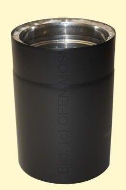 Doppelwandiges Ofenrohr Isoline DN 150 mm Länge 0,33 m schwarz #310