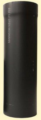 Ofenrohr DN 150 mm x 0,25 m Länge 2 mm Stahl gemufft schutzlackiert (nicht kratzerfrei)