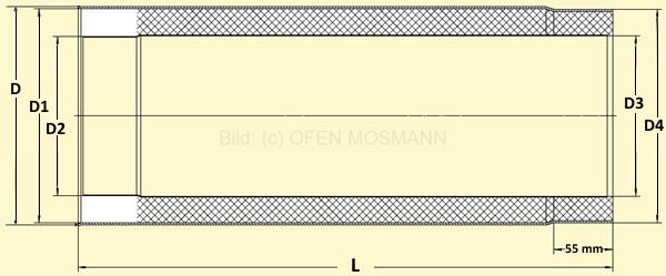 Primus Ofenrohr Skizze