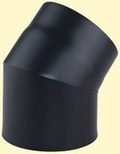 Doppelwandiges Ofenrohr Primus DN 150 mm Bogen 45° ohne Tür schwarz #310