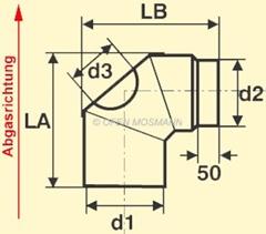Ofenrohr Kaminofen 150 Mm O Bogen Winkel 90d Mit Tur Schwarz 310
