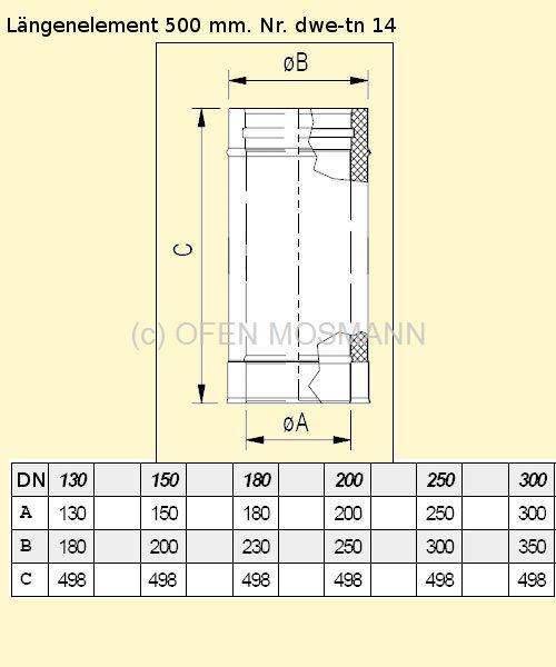 dw eco 2 0 edelstahlschornstein 180 mm o dw kaminrohr. Black Bedroom Furniture Sets. Home Design Ideas