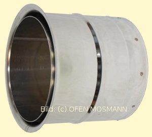Top Doppelwandfutter aus Edelstahl für Ofenrohre mit DN 180 mm - P000810 ZY04