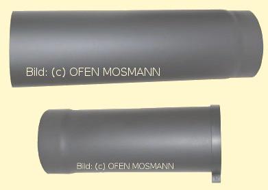 ofenrohr kaminofen 120 mm o verstellbar von 0 50 bis 0 80 m gussgrau 288 p007893. Black Bedroom Furniture Sets. Home Design Ideas
